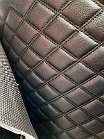 Кожзаменитель кожзам на коврики в машину кожзам прошитый ромбом на резиновой основе ширина 140 см, фото 1