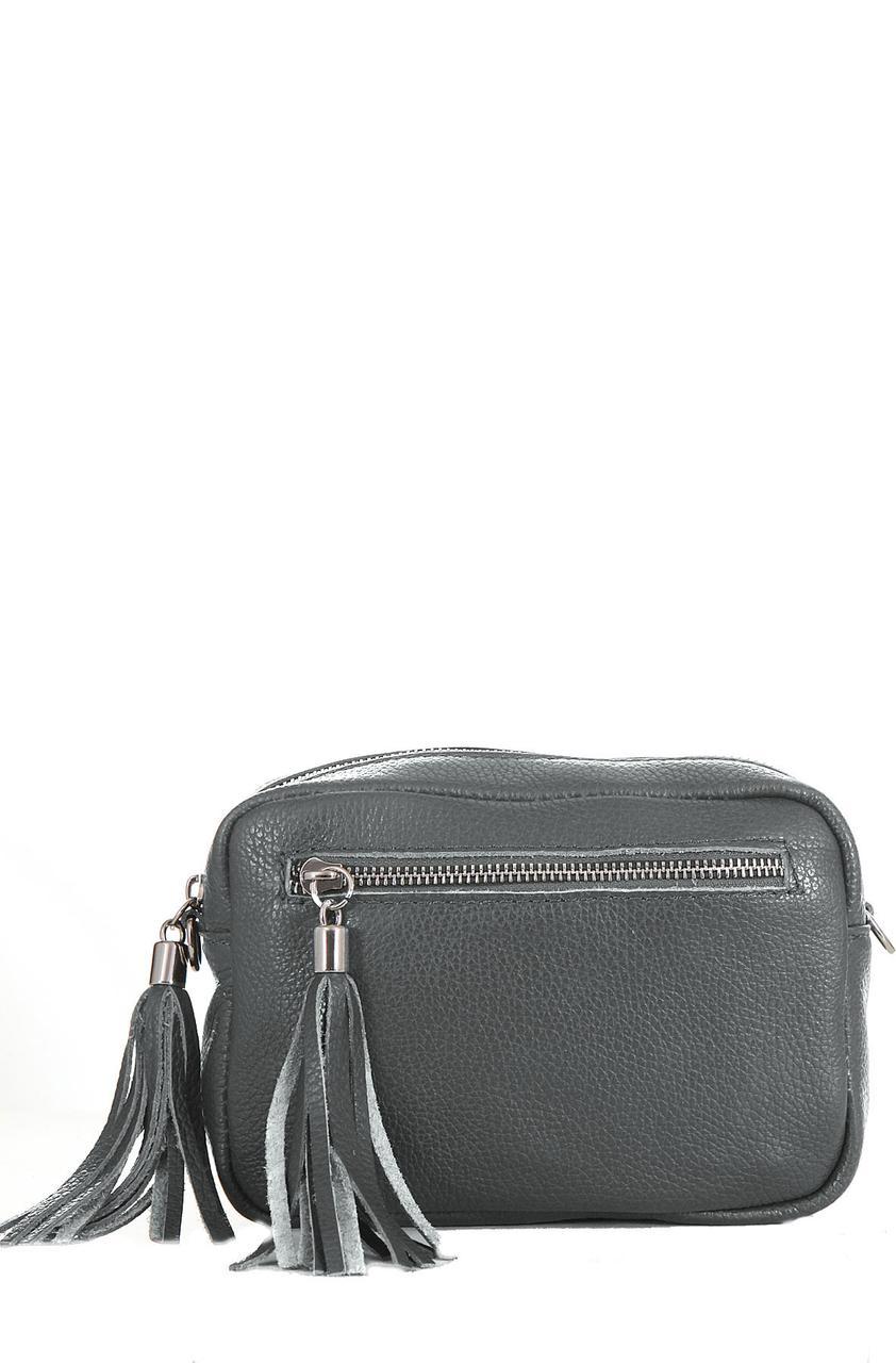 Італійська сумочка крос боді STINA diva's Bag колір темно-сірий