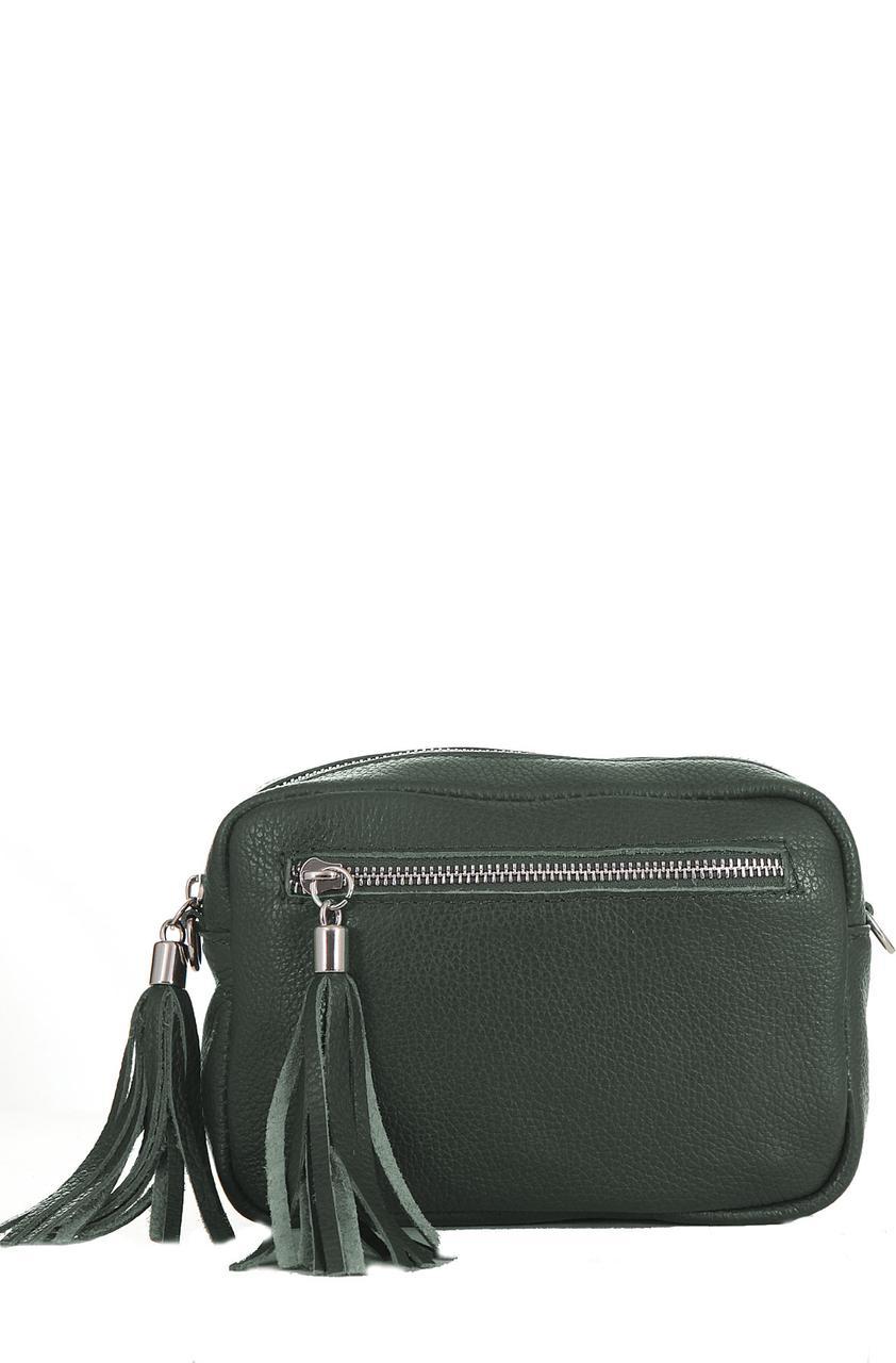 Італійська сумочка крос боді STINA diva's Bag колір темно-зелений