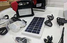 Кемпинговый переносной фонарь Yajia YJ-1960T (3 лампы 5 Вт + 24SMD, power bank, солнечная панель), фото 3