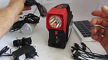 Кемпинговый переносной фонарь Yajia YJ-1960T (3 лампы 5 Вт + 24SMD, power bank, солнечная панель), фото 2