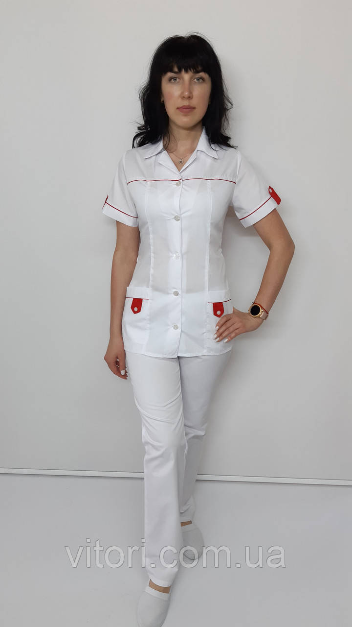 Женский медицинский костюм Танго хлопок короткий рукав