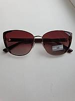 Женские солнцезащитные очки кошечки коричневые с градиентом,Eternal ЕТ3336