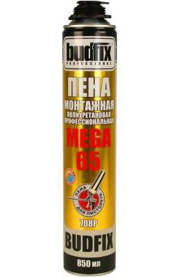 Пена монтажная профессиональная Budfix 708P MEGA 65  850 мл