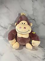 Детский плед игрушка обезьянка, 160х120, Коричневый