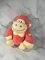 Детский плед игрушка обезьянка, 160х120, розовый