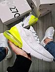Чоловічі кросівки Nike Air Max 270 Flyknit (біло-зелені) 415TP, фото 4