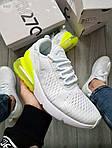 Чоловічі кросівки Nike Air Max 270 Flyknit (біло-зелені) 415TP, фото 5