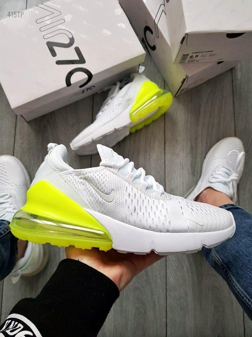 Чоловічі кросівки Nike Air Max 270 Flyknit (біло-зелені) 415TP