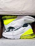 Чоловічі кросівки Nike Air Max 270 Flyknit (біло-зелені) 415TP, фото 7