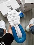 Чоловічі кросівки Nike Air Max 270 Flyknit (біло-сині) 416TP, фото 2