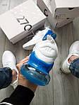 Чоловічі кросівки Nike Air Max 270 Flyknit (біло-сині) 416TP, фото 4