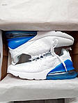 Чоловічі кросівки Nike Air Max 270 Flyknit (біло-сині) 416TP, фото 6