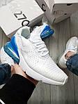 Чоловічі кросівки Nike Air Max 270 Flyknit (біло-сині) 416TP, фото 7