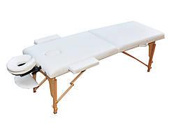 Массажный стол  ZENET раскладной  ZET-1042 WHITE размер S ( 180*60*61)