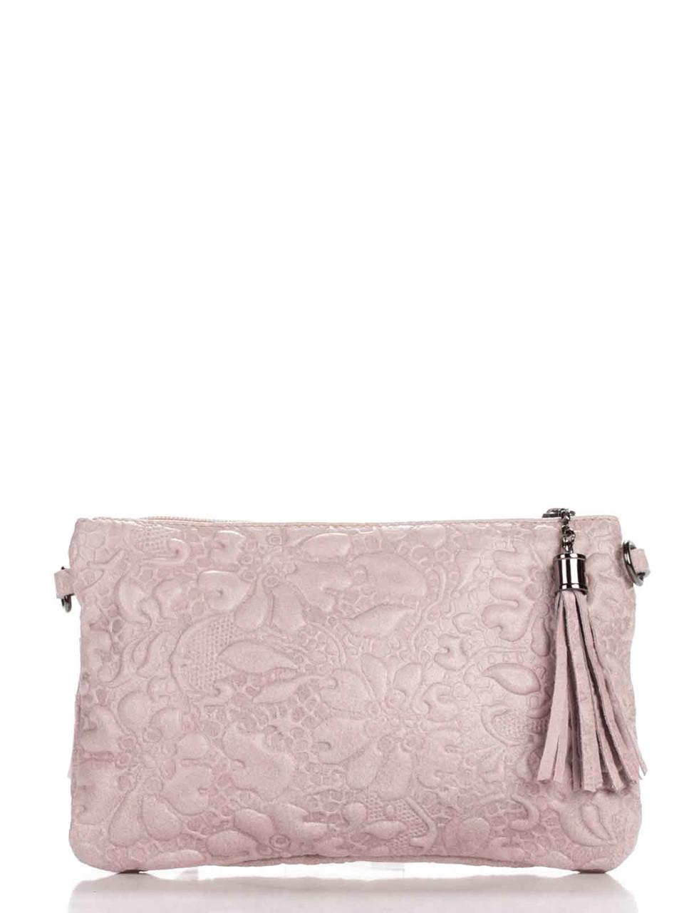 Женская кожаная сумка KISHA Diva's Bag цвет розовый