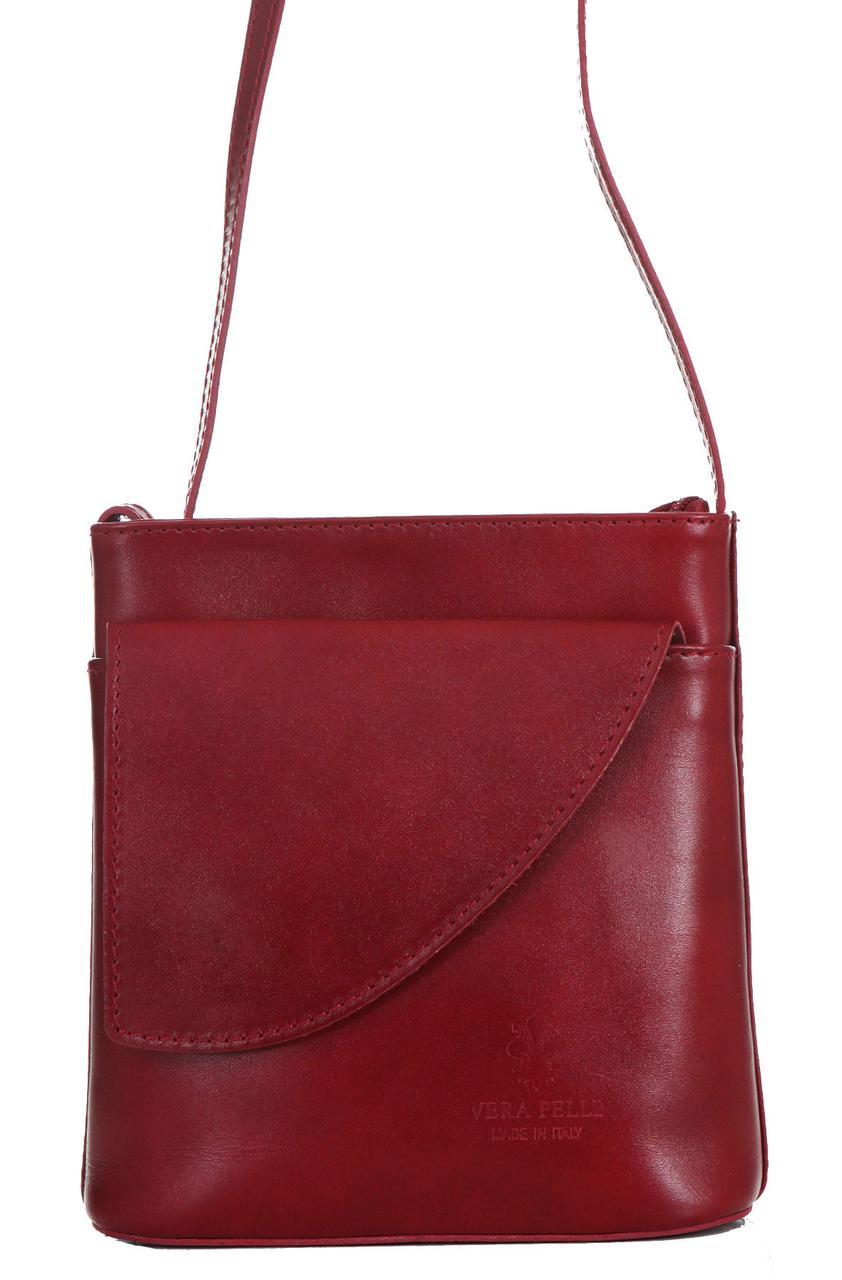 Женская кожаная сумка DOTTY Diva's Bag цвет бордовый
