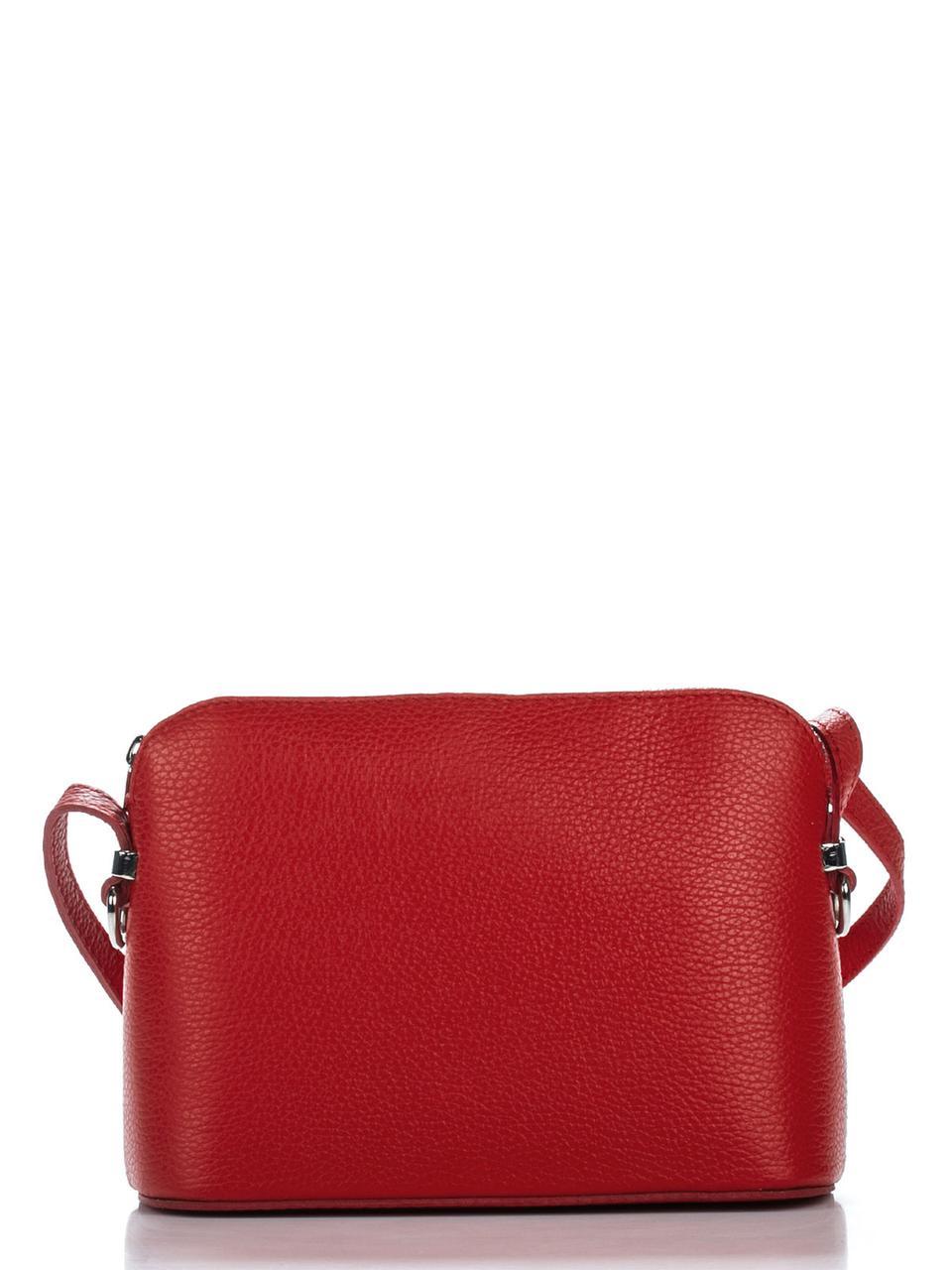 Женская кожаная сумка VIOLETTA Diva's Bag цвет красный