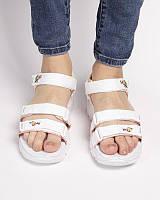 Сандали skechers d'lites sandal white, босоножки белые