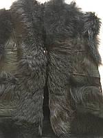 """Безрукавка дитяча тепла """"з чорної овечої шкіри """" на овчині розмір 3-5 років, фото 1"""