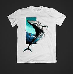 Футболка YOUstyle Whale 0376 XXL White