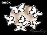 Детская потолочная люстра с бабочками 8067/5+1 WH dimmer, фото 2