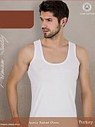 Майка мужская белая отличного качества (рибана) 9-XL 50-52 р