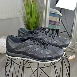"""Мужские кожаные кроссовки серого цвета от производителя ТМ """"Maestro"""""""
