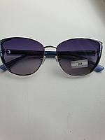 Женские солнцезащитные очки кошечки синие с градиентом,Eternal ЕТ3336