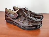 Туфлі чоловічі літні бордові зручні прошиті (код 8977), фото 1