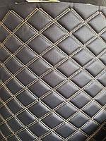 Кожзаменитель мебельный кожзам стеганный для обшивки мягкой мебели ширина 160 см ромб прошитый, фото 1
