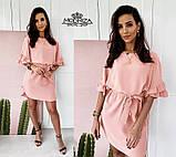 """Літнє плаття з поясом """"Fiona"""" БаталРАСПРОДАЖА, фото 7"""