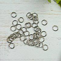 Кольцо соединительное. Цвет  серебро 5,5мм, 25шт