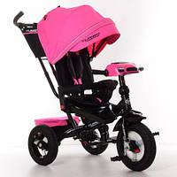 Детский трехколесный велосипед., пульт, МР3, цвет РОЗОВЫЙ. Turbo Trike M 4060HA-6