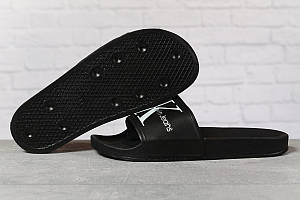 Шлепанцы мужские 17411, Calvin Klein Jeans, черные, < 41 42 44 > р. 41-26,3см.