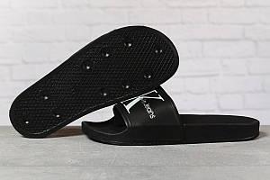 Шлепанцы мужские 17411, Calvin Klein Jeans, черные, < 41 42 44 > р. 41-26,3см. 44