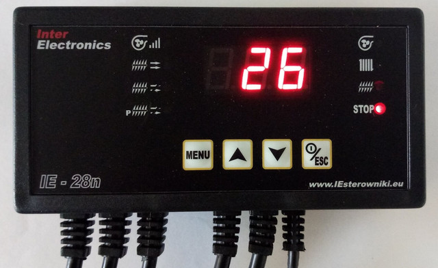 Автоматика для твердотопливного котла и шнека Inter Elektronics IE-28N