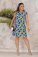 Летнее платье женское Софт Размер 50 52 54 56 Разные цвета и принты