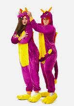 Модний кігурумі Дракон фіолетовий 152 см