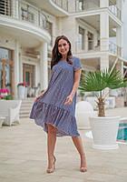 Женское летнее платье свободного кроя Софт Размер 50 52 54 56 В наличии 3 цвета