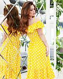 Желтое в горошек платье на бретельках S, фото 3