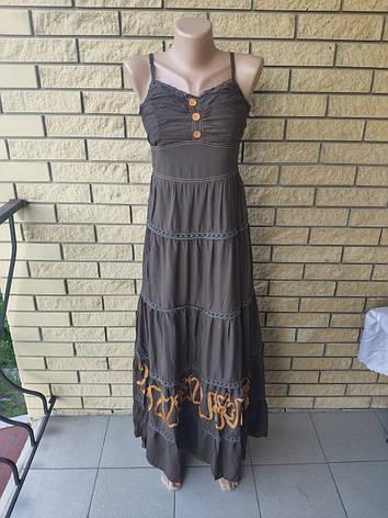 Платье, сарафан, костюм( платье с болеро) коттоновый длинный, в пол, есть большие размеры WHOLE FORKS, Турция, фото 2