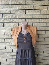 Платье, сарафан, костюм( платье с болеро) коттоновый длинный, в пол, есть большие размеры WHOLE FORKS, Турция, фото 3