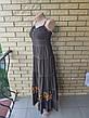 Платье, сарафан, костюм( платье с болеро) коттоновый длинный, в пол, есть большие размеры WHOLE FORKS, Турция, фото 4