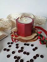 Соевая ароматическая свеча в гипсовом стакане
