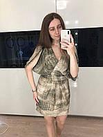 Бежевое красивое платье недорого