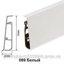 Плинтус напольный пластиковый Cezar Hi-Line Prestige P089 Белый глянцевый