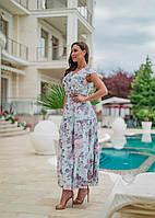 Женское летнее платье в пол Софт Размер 50 52 54 56 В наличии  3 цвета