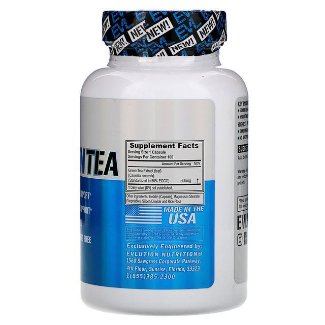 EVLution Nutrition, Green Tea, 100 Capsules,100 капсул жиросжигатель купить недорого в украине