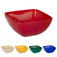 Миска-салатница квадратная без крышки 500мл